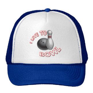 I Live to Bowl Cap