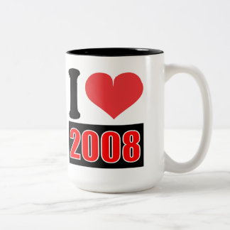 I love 2008 - Mugs