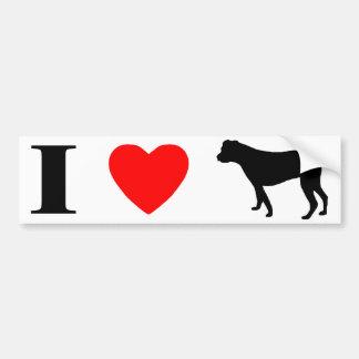 I Love American Bulldogs Bumper Sticker