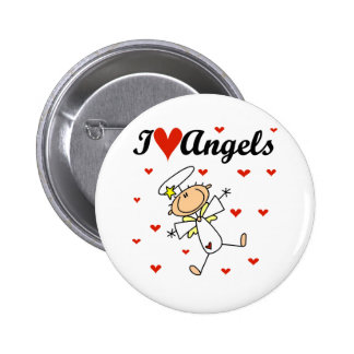 I Love Angels T-shirts and Gifts 6 Cm Round Badge