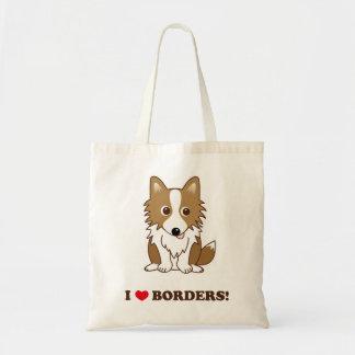I LOVE BORDERS! Standing ear lead version Budget Tote Bag