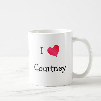 I Love Courtney Basic White Mug