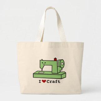 I Love Craft- Kawaii Sewing Machine Jumbo Tote Bag