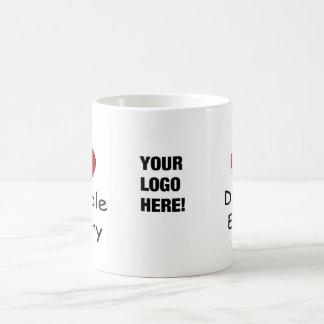 I Love Double Entry - Add your Logo! Basic White Mug