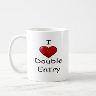 I Love Double Entry ! Basic White Mug