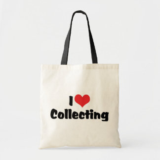 I Love Heart Collecting - Antique Junk Collector Budget Tote Bag