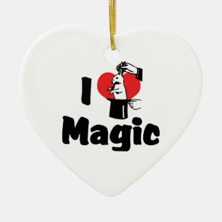I Love Heart Magic - Magic Lover Ceramic Heart Decoration
