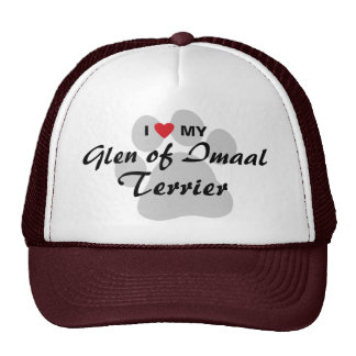 I Love (Heart) My Glen of Imaal Terrier Pawprint Cap