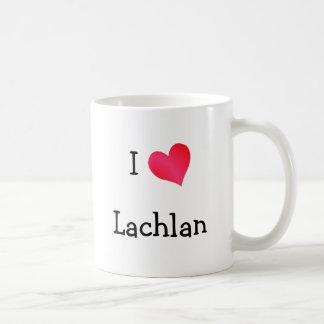 I Love Lachlan Basic White Mug