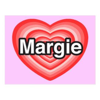 I love Margie. I love you Margie. Heart Postcard