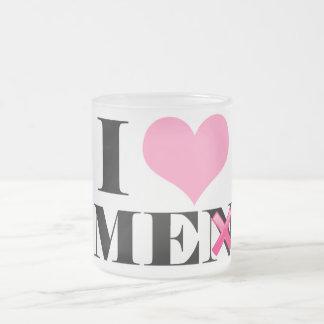 I Love ME (men) Frosted Glass Mug