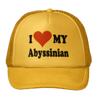 I Love My Abyssinian Cat Gifts and Apparel Cap