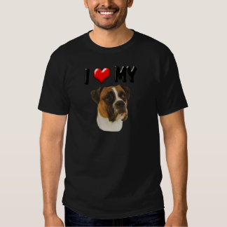I Love My Boxer T Shirt