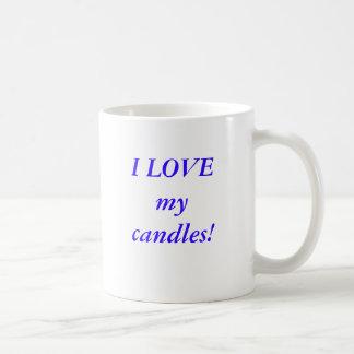 I LOVE my candles! Basic White Mug