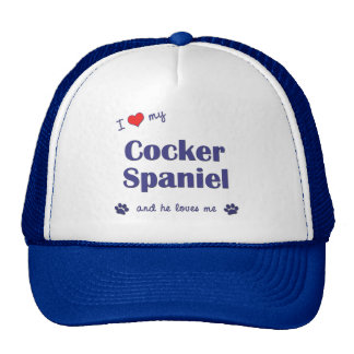 I Love My Cocker Spaniel (Male Dog) Cap