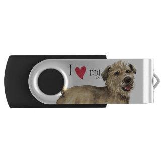 I Love my Glen of Imaal Terrier Swivel USB 3.0 Flash Drive