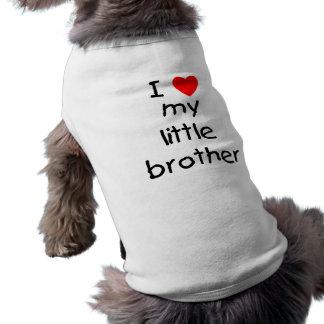 I Love My Little Brother Sleeveless Dog Shirt