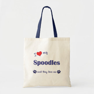 I Love My Spoodles (Multiple Dogs) Budget Tote Bag