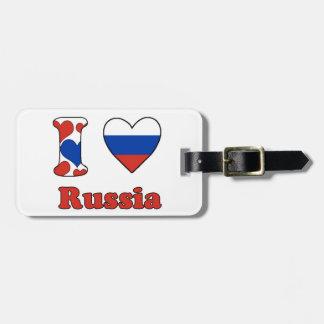 I love Russia Travel Bag Tag