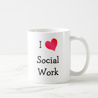 I Love Social Work Basic White Mug