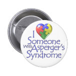 I Love Someone With Asperger's 6 Cm Round Badge