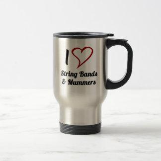 I Love String Bands & Mummers Stainless Steel Travel Mug