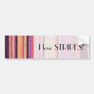 I love Stripes Bumper Sticker