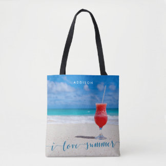 I Love Summer Beach Bags Add Your Photo Tote Bag