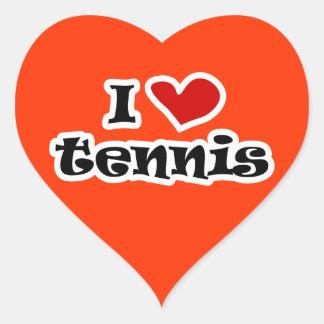 I love tennis sticker - heart shape