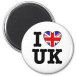 I Love UK 6 Cm Round Magnet