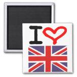 I love UK Square Magnet