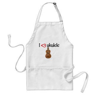 I love ukulele standard apron