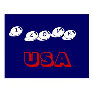 I LOVE USA POSTCARD