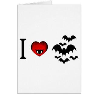 I Love Vampire Bats Greeting Card