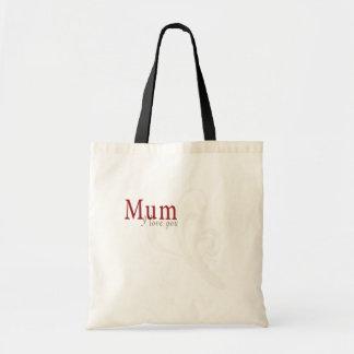 I Love You Mum Budget Tote Bag