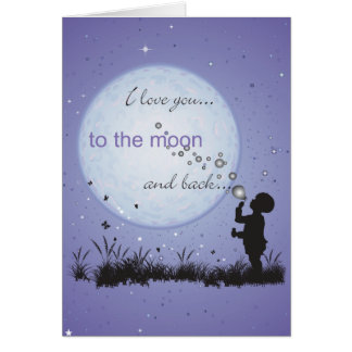 I Love You to the Moon and Back-Cards Postcards Greeting Card