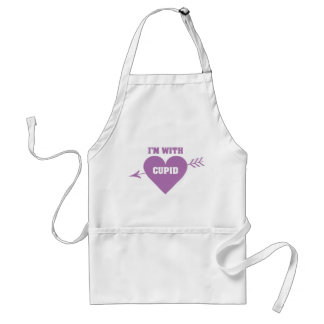 I'M WITH CUPID aprons