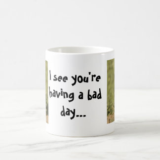 I see you're having a bad day owl basic white mug