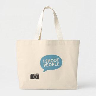 I shoot people jumbo tote bag