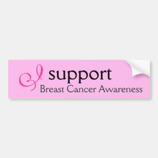 I support Breast Cancer Awareness - Sticker Bumper Sticker