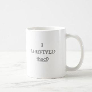I Survived  thac0 Basic White Mug