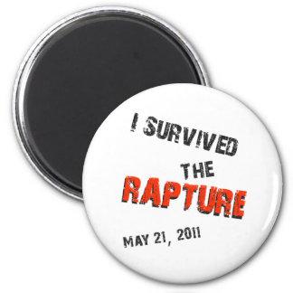 I Survived the Rapture 6 Cm Round Magnet