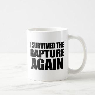 I Survived The Rapture Again Basic White Mug