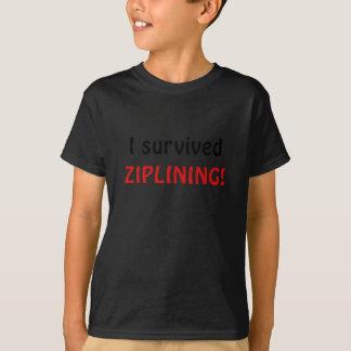 I Survived Ziplining T-shirt