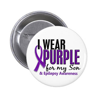 I Wear Purple For My Son 10 Epilepsy 6 Cm Round Badge