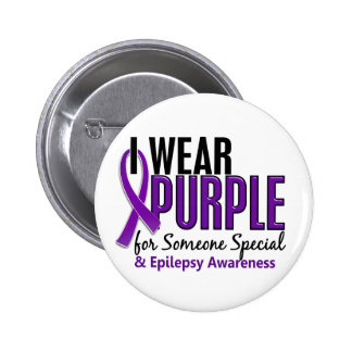 I Wear Purple For Someone Special 10 Epilepsy 6 Cm Round Badge
