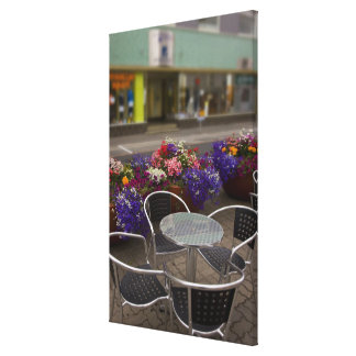 Iceland, Akureyri. View of the main business Stretched Canvas Prints