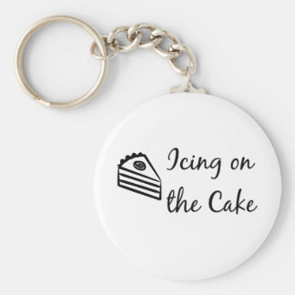 Icing on the Cake Basic Round Button Key Ring