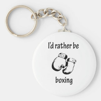 I'd Rather Be Boxing Basic Round Button Key Ring