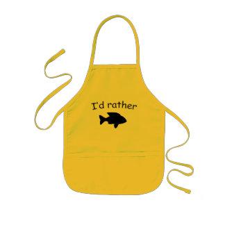 I'd rather fish kids apron